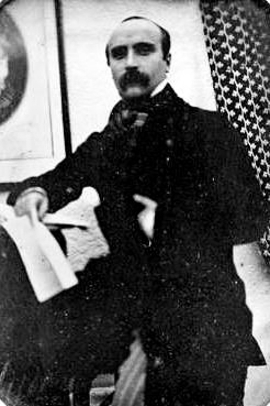 fotografía de Flaubert durante su viaje a Egipto